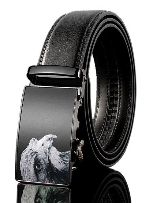 New Vintage 3D Eagle Embellished PU Leather Automatic Buckle Wide Belt