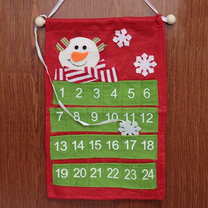 Christmas Santa Claus Deer Advent Calendar Hanging DecorationHOME<br><br>Color: GREEN; Event &amp; Party Item Type: Party Decoration; Occasion: Christmas; Material: Non-woven; Weight: 0.1600kg; Package Contents: 1 x Advent Calendar;