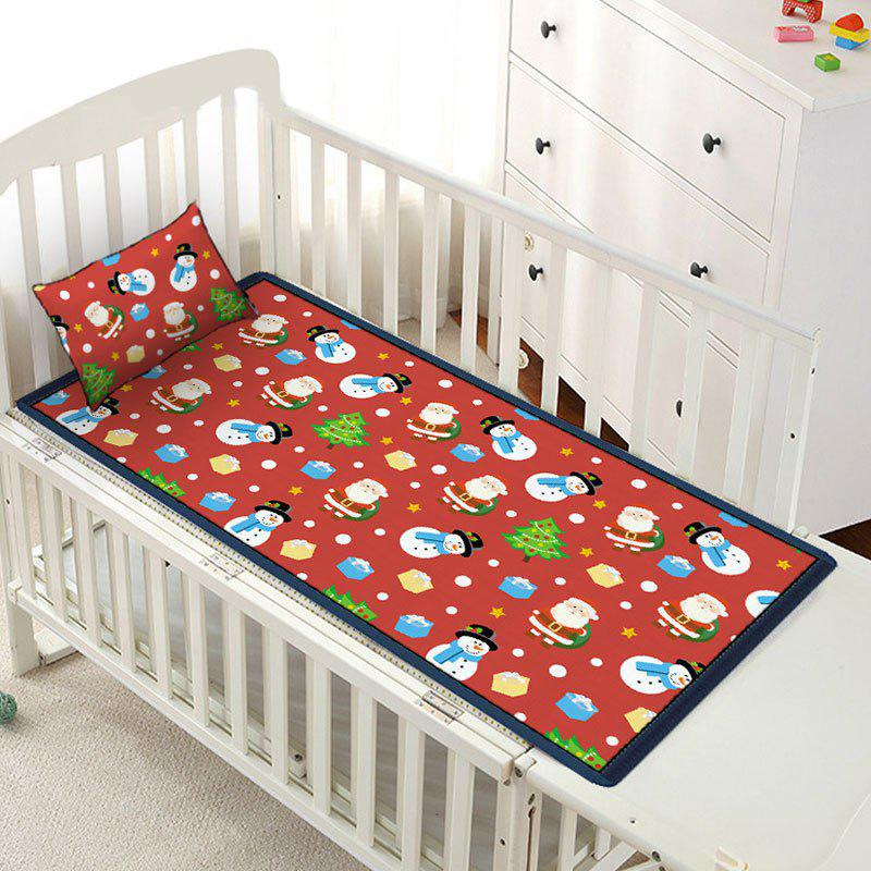 New Christmas Elements Pattern Viscose Fiber Children Bed Matting with Pillowcase