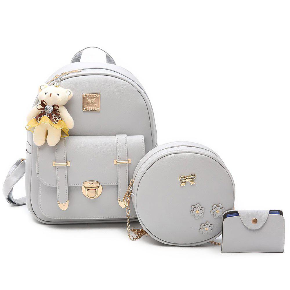 Affordable Bow 3 Pieces Metal Backpack Set
