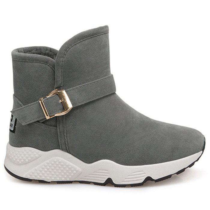 New Round Toe Buckle Strap Snow Boots