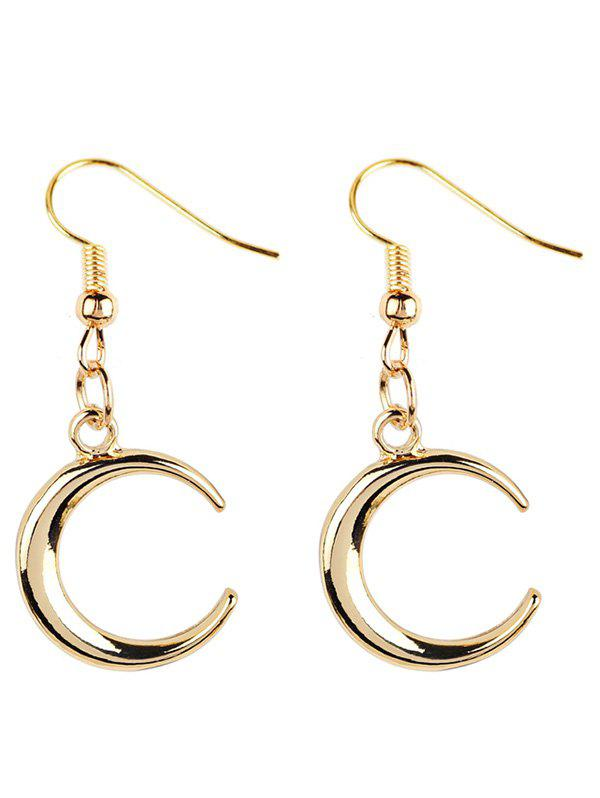 Vintage Moon Embellished Metal Drop Earring