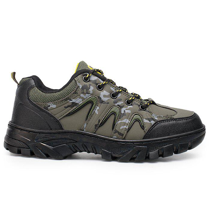 Fancy Camo Print Mesh Panels Outdoor Hiking Shoes