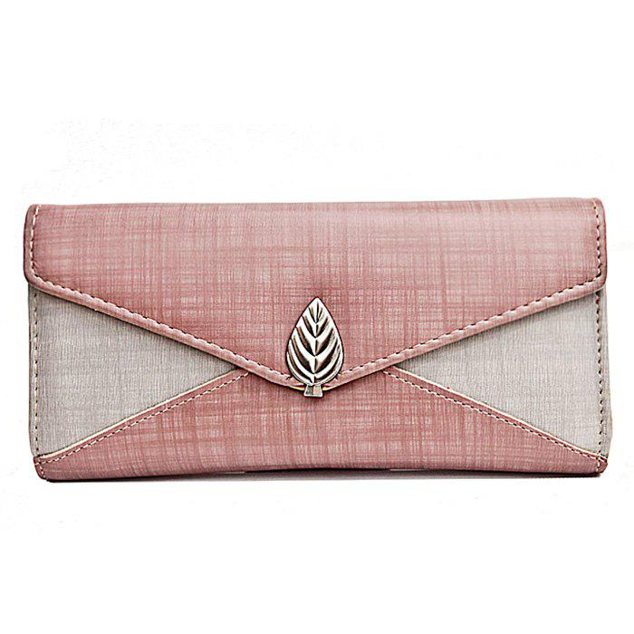 Outfit Metal Leaf Contrasting Color  Wallet With Chain