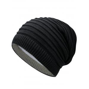 Outdoor Reversible Crochet Knitted Open Top Beanie -