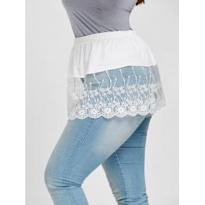Semi Sheer Floral Lace Extender Plus Size Skirt -