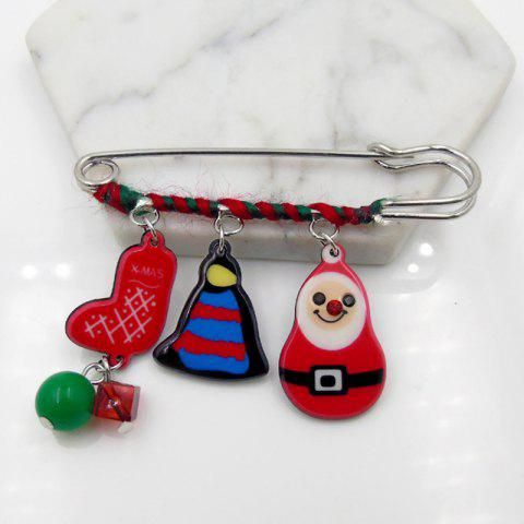 Shop Christmas Snowman Deer Moon Bell Glove Brooch