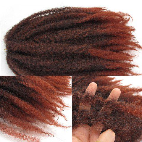 Hot Long Fluffy Colormix Afro Curly Synthetic Hair Weft