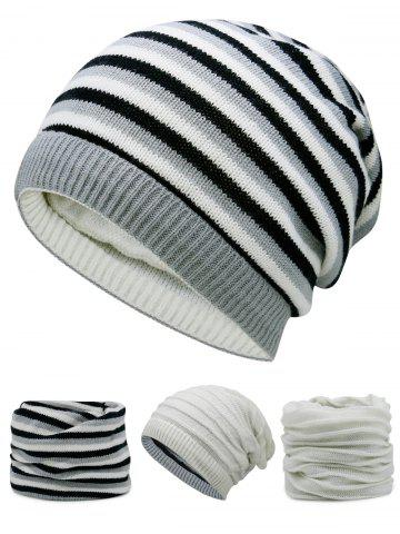 Outfit Outdoor Reversible Crochet Knitted Open Top Beanie