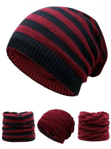 Outfit Outdoor Ponytail Hole Embellished Reversible Knit Beanie Hat