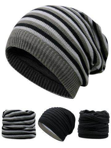 Store Outdoor Reversible Crochet Knitted Open Top Beanie