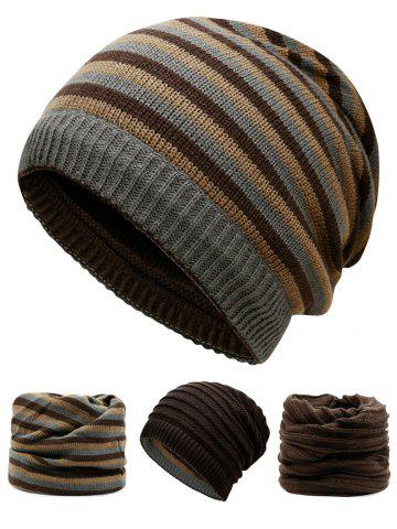 Discount Outdoor Reversible Crochet Knitted Open Top Beanie