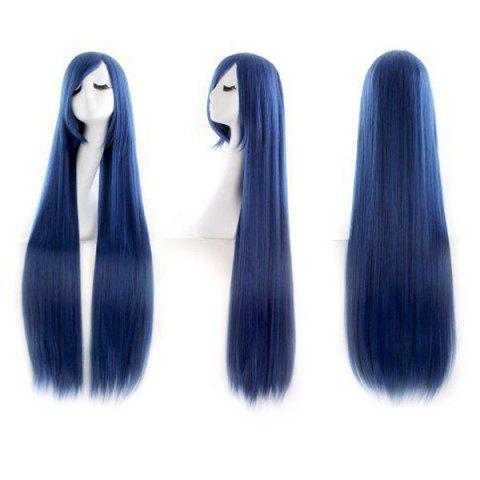 Cheap Ultra Long Inclined Bang Straight Synthetic Party Wig