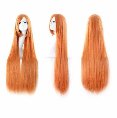 Hot Ultra Long Inclined Bang Straight Synthetic Party Wig