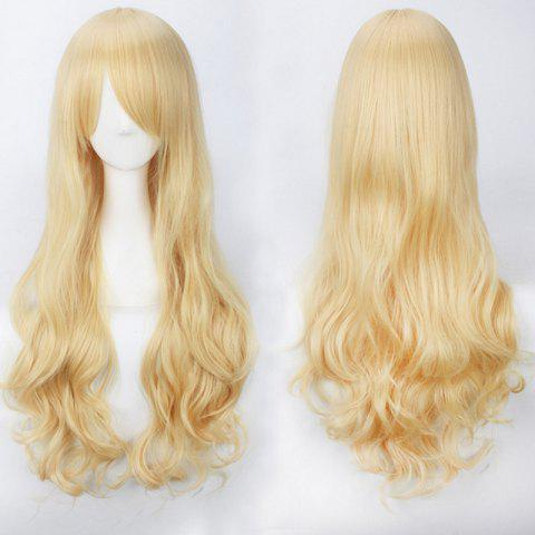 New Ultra Long Side Bang Fluffy Curly Synthetic Party Wig
