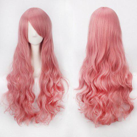 Online Ultra Long Side Bang Fluffy Curly Synthetic Party Wig