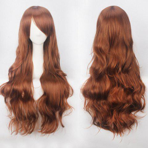 Sale Ultra Long Side Bang Fluffy Curly Synthetic Party Wig