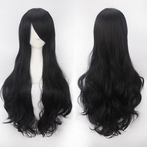Outfit Ultra Long Side Bang Fluffy Curly Synthetic Party Wig