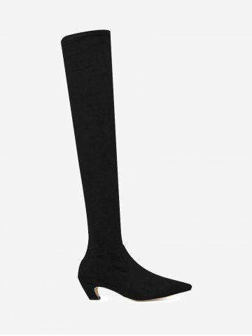 deals choice for sale Buckle Strap Pointed Toe Knee-High Boots - Black 39 buy cheap visit new official sale online cheapest price online XnW8qYrZq
