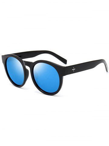 Store Retro Cat Eye Mirror Reflective Round Sunglasses