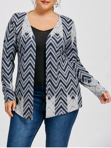 Affordable Plus Size Chevron Cardigan