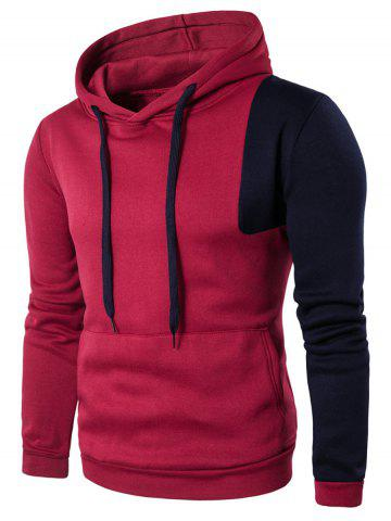 Kangaroo Pocket Irregular Insert Two Tone Hoodie