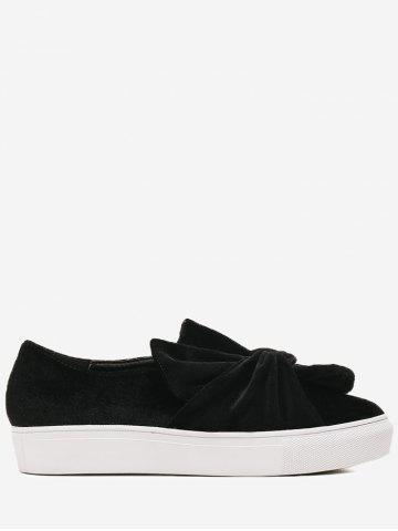 Cross Twist Front Velvet Slip sur des baskets