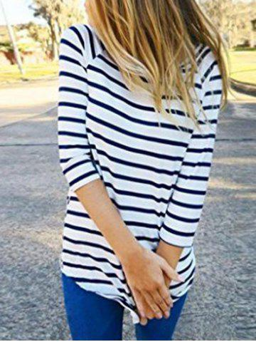 Striped Tunic Tee with Sleeves