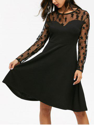 https://www.rosegal.com/long-sleeve-dresses/starry-mesh-panel-high-waist-flare-dress-1392679.html