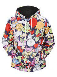 Christmas Tree Kangaroo Pocket Snowman Hoodie -