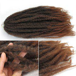 Long Fluffy Colormix Afro Curly Synthetic Hair Weft -