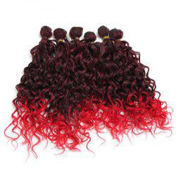 Medium Ombre Shaggy Wavy 6Pcs Synthetic Hair Weaves -