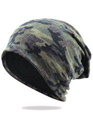 Outdoor Camouflage Pattern Embellished Slouchy Beanie -