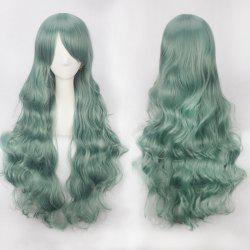 Ultra Long Side Bang Fluffy Curly Synthetic Party Wig -