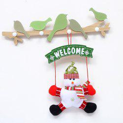 Door Decorations Hanging Christmas Santa Snowman Doll -