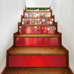 Christmas Hanging Baubles Pattern Decorative Stair Stickers -