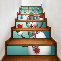 Christmas Snowman Baubles Pattern Decorative Stair Stickers -