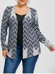 Plus Size Chevron Cardigan -