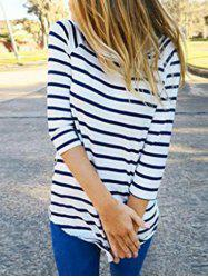 Striped Tunic Tee with Sleeves -