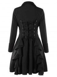 Double Breasted Lace Up Trench Coat -
