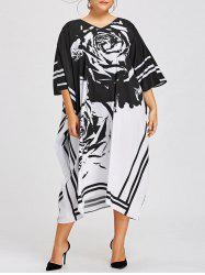Plus Size Printed Midi Dress -