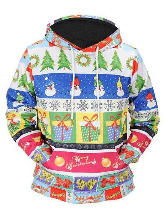 Merry Christmas Snowman Snowflake Kangaroo Pocket HoodieWOMEN<br><br>Size: 2XL; Color: COLORMIX; Material: Polyester,Spandex; Shirt Length: Regular; Sleeve Length: Full; Style: Fashion; Pattern Style: Others; Season: Fall,Spring; Weight: 0.5200kg; Package Contents: 1 x Hoodie;