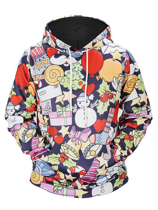 Buy Christmas Tree Kangaroo Pocket Snowman Hoodie