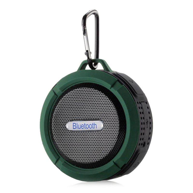 Wireless Waterproof Mini Outdoor Bluetooth SpeakerHOME<br><br>Size: 9*9*5CM; Color: ARMY GREEN; Products Type: Bluetooth Speaker; Style: Trendy; Material: Plastic; Package Contents: 1 x Bluetooth Speaker;