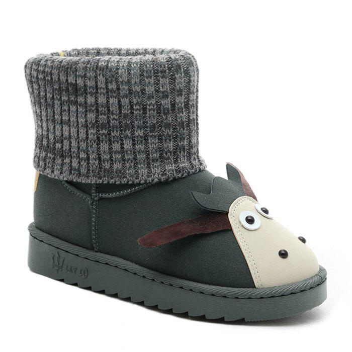 Online Comfortable Sweet Cartoon Knitted Ankle Boots
