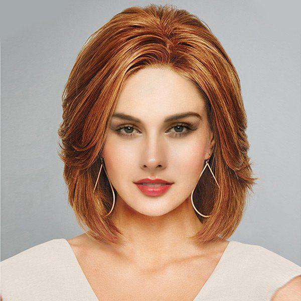 Short Inclined Bang Natural Straight Lace Front Human Hair WigHAIR<br><br>Color: AUBURN BROWN #30; Type: Full Wigs; Cap Construction: Lace Front; Style: Straight; Cap Size: Average; Material: Human Hair; Bang Type: Side; Length: Short; Lace Wigs Type: Lace Front Wigs; Occasion: Daily; Length Size(CM): 31; Weight: 0.2600kg; Package Contents: 1 x Wig;