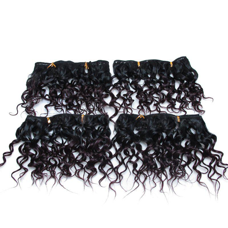 Shop 4Pcs Short Fluffy Water Wave Synthetic Hair Wefts