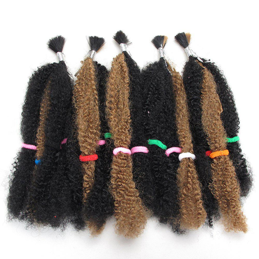 Fashion 5Pcs Long Fluffy Afro Curly Synthetic Hair Weaves