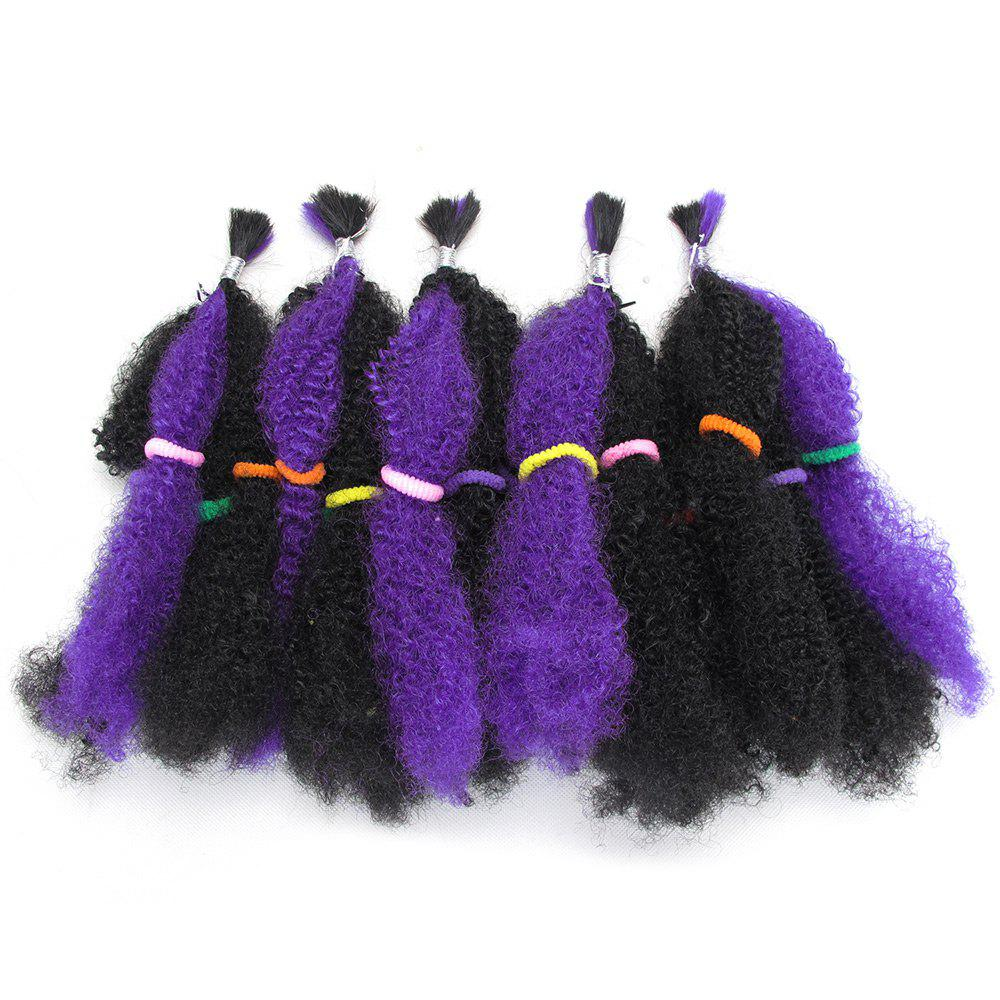 Best 5Pcs Long Fluffy Afro Curly Synthetic Hair Weaves