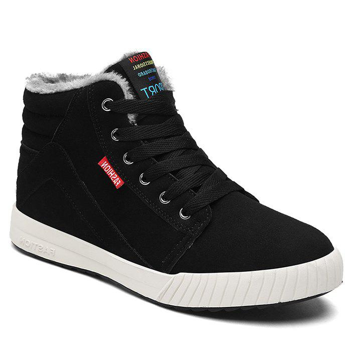 New Letter Print High Top Skate Shoes